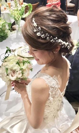 結婚式でとても気に入ったヘアアレンジ